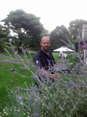 Chef Jacques Gauthier sources herbs for the Wolffer 10-Mile Dinner 2013